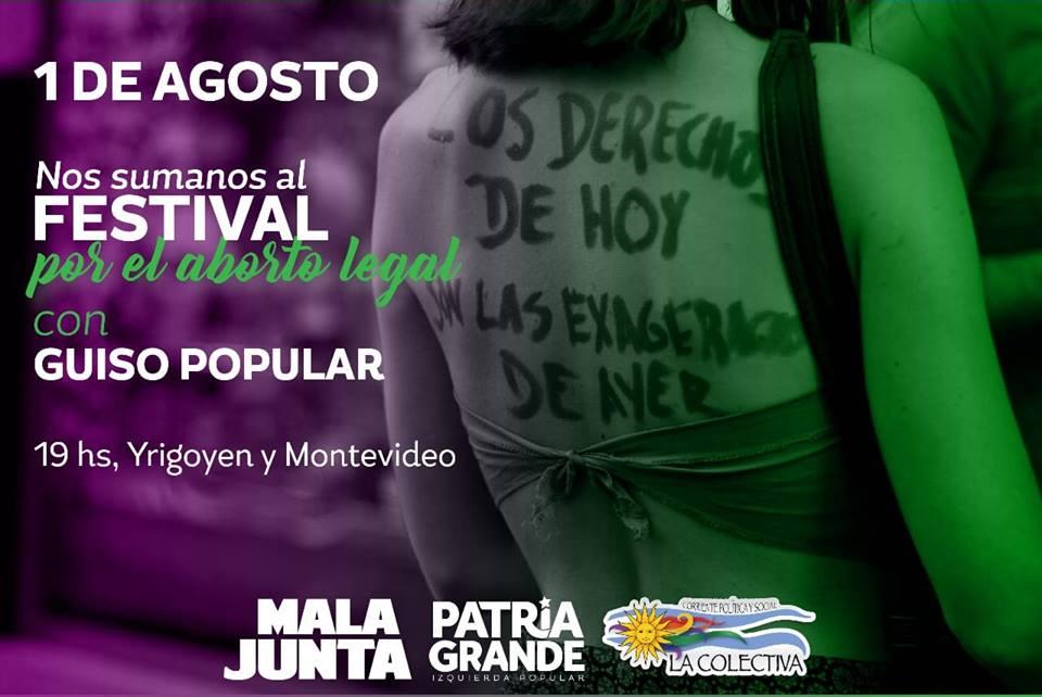 """Se realizará el """"Festival por el Aborto Legal"""" • Canal C"""
