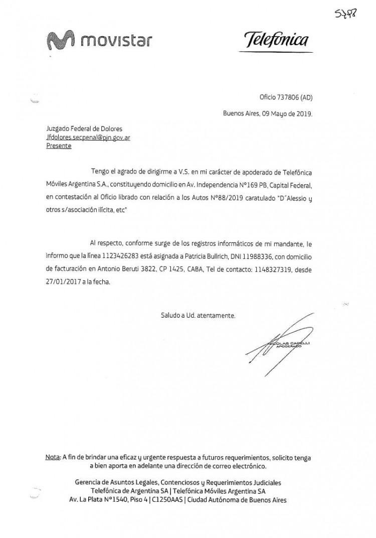 Movistar confirmó que D'Alessio conversaba con Patricia Bullrich • Canal C