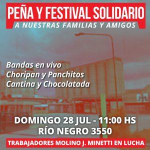 Trabajadores de Molinos Minetti realizan una peña solidaria • Canal C