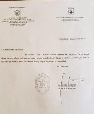 Escuela Carbó sin clases por posible caso de hepatitis • Canal C