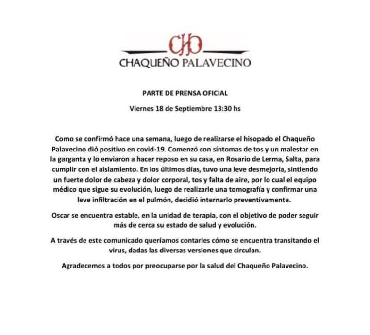 Internaron al Chaqueño Palavecino de forma preventiva • Canal C