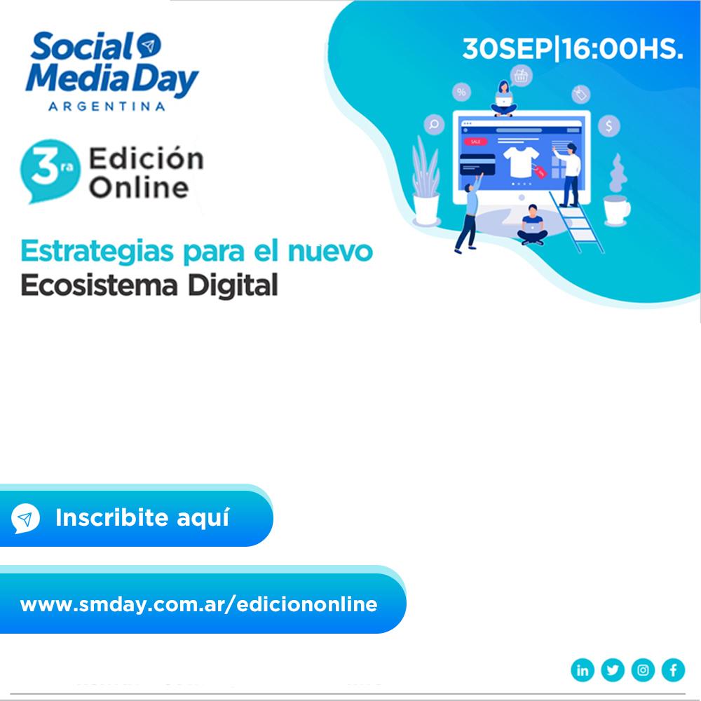 Ya queda poco para la tercera edición online de Social Media Day Argentina • Canal C