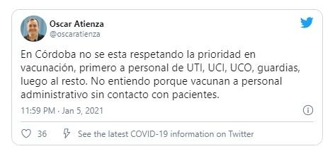 Denuncian que no se respeta la prioridad de vacunación en Córdoba • Canal C