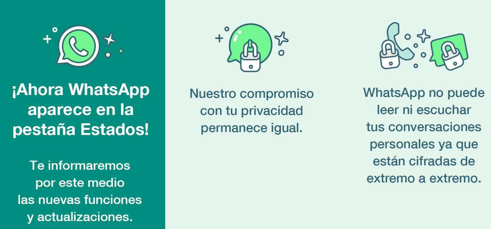 WhatsApp incorporó estados en la aplicación para informar novedades • Canal C