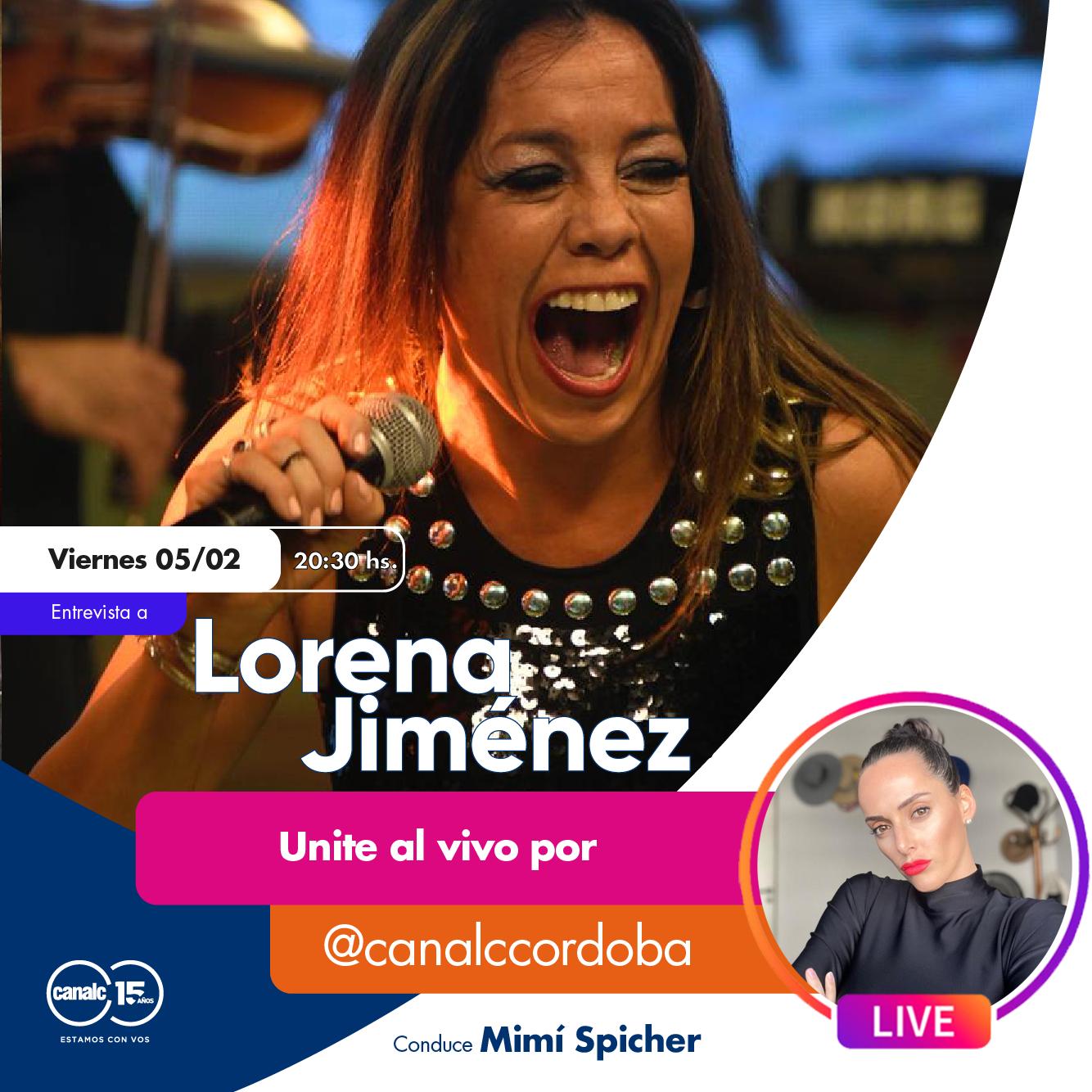 ¡Mirá a Lore Jiménez por Instagram Live! • Canal C