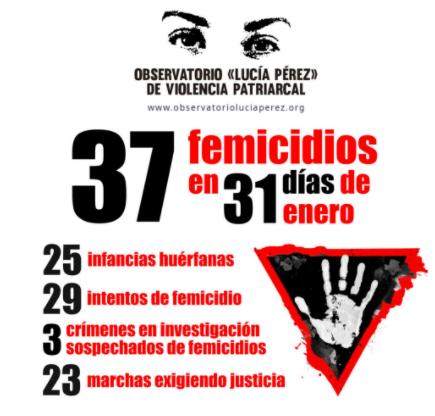 Durante enero se reportaron treinta y siete femicidios • Canal C