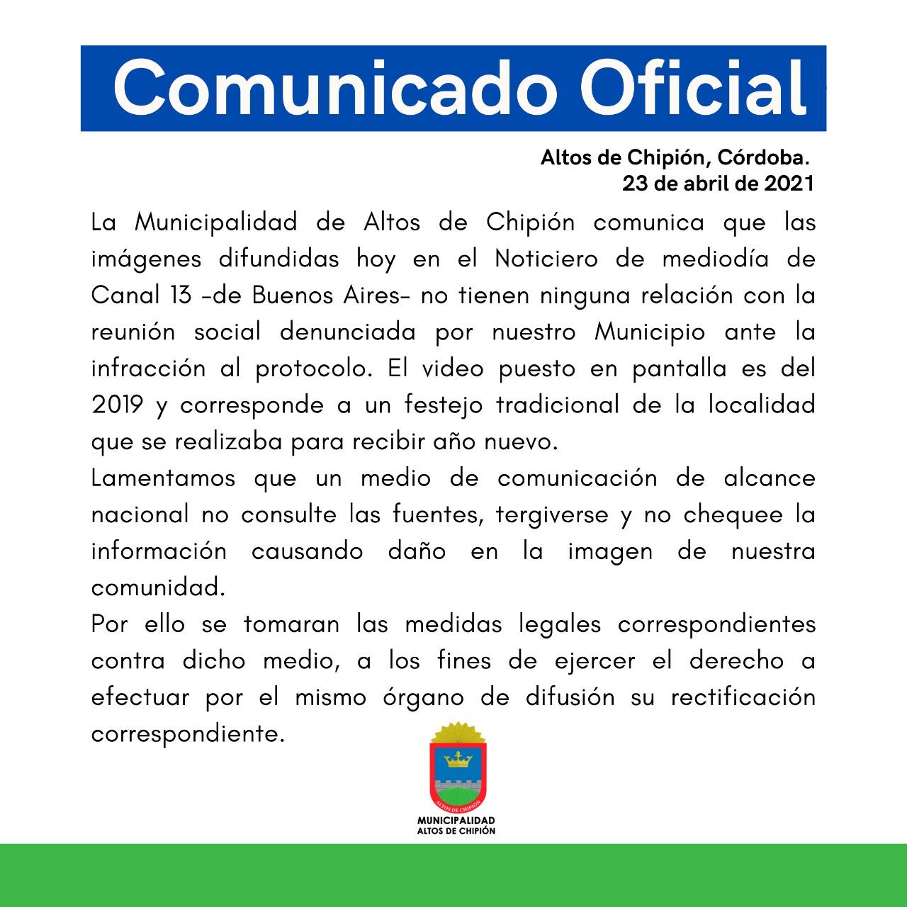 Altos de Chipión contra un noticiero de Buenos Aires • Canal C