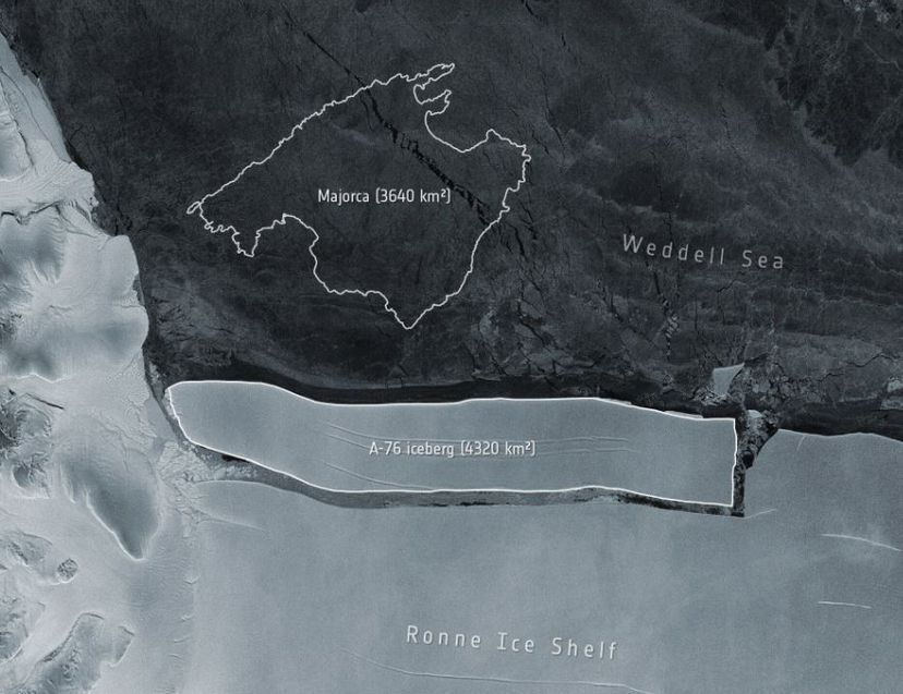 Se desprende de la Antártida el iceberg más grande del mundo • Canal C