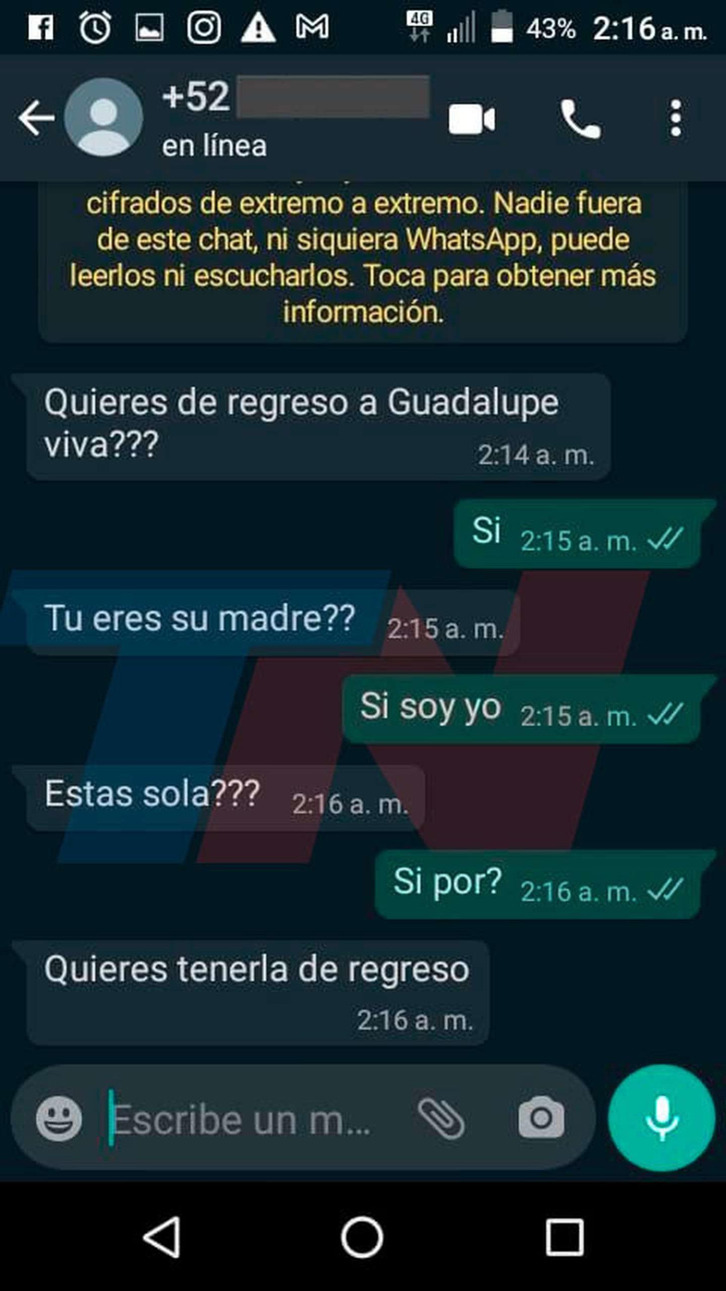 La mamá de Guadalupe asegura que escuchó a la niña por teléfono • Canal C