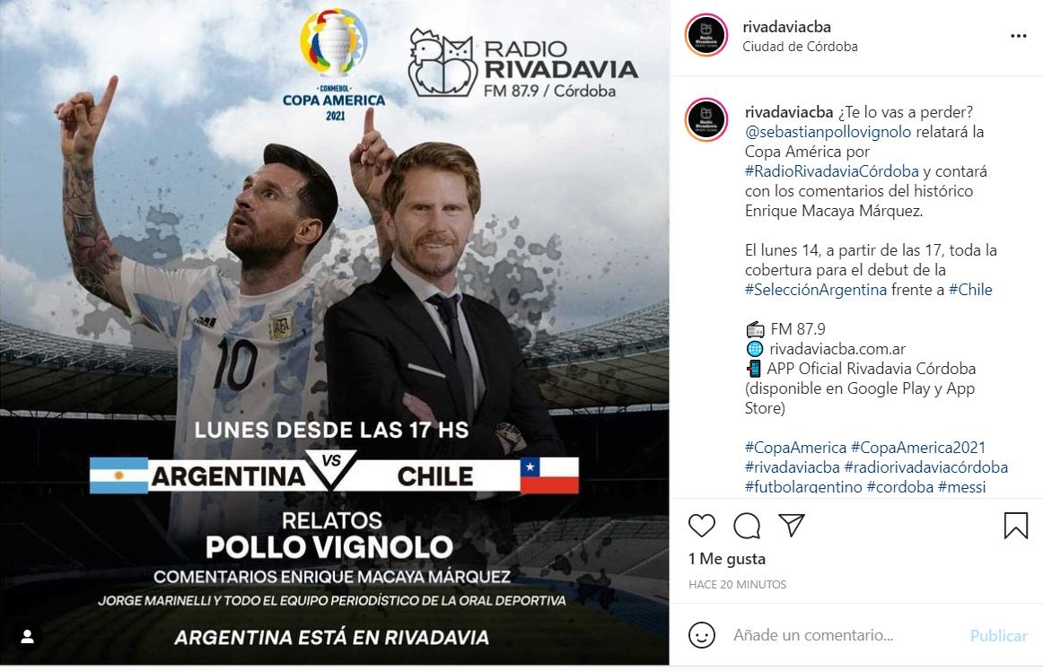 El Pollo Vignolo relatará la Copa América en Radio Rivadavia • Canal C