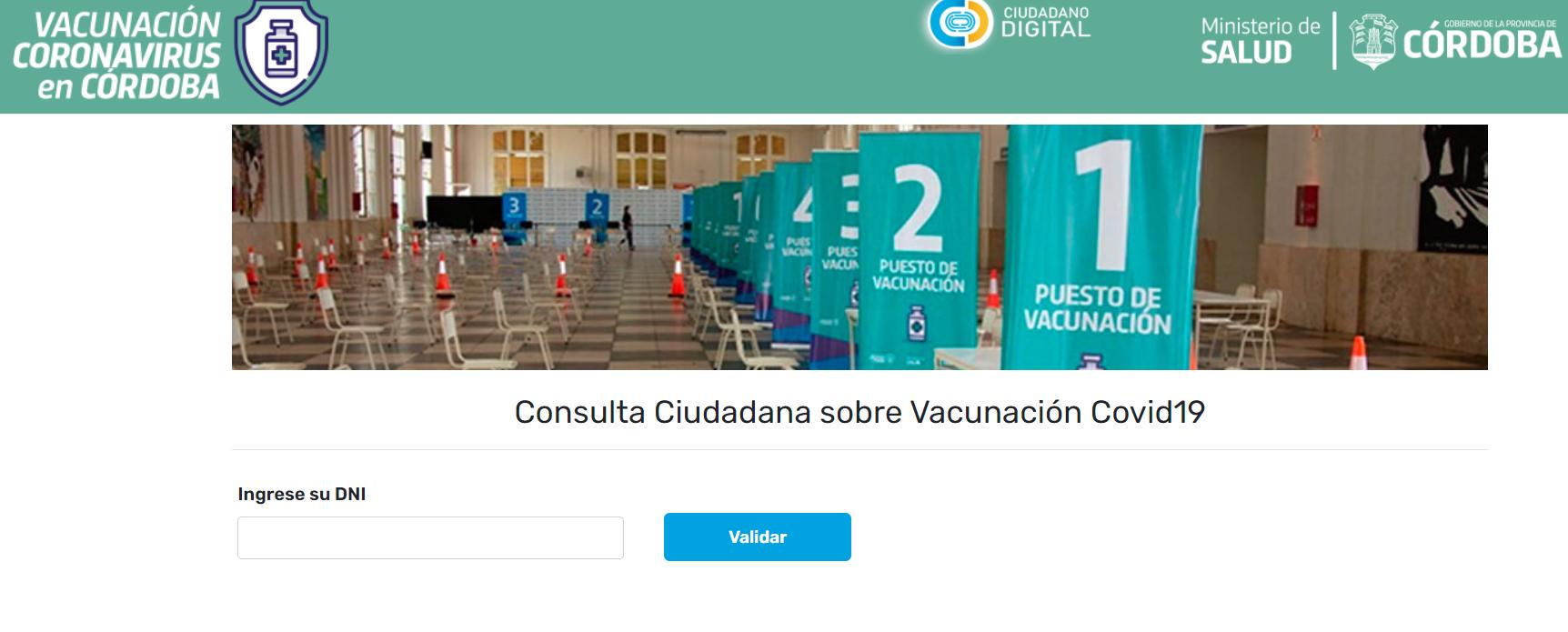 El Gobierno de Córdoba expuso datos personales a través de la página de vacunación • Canal C