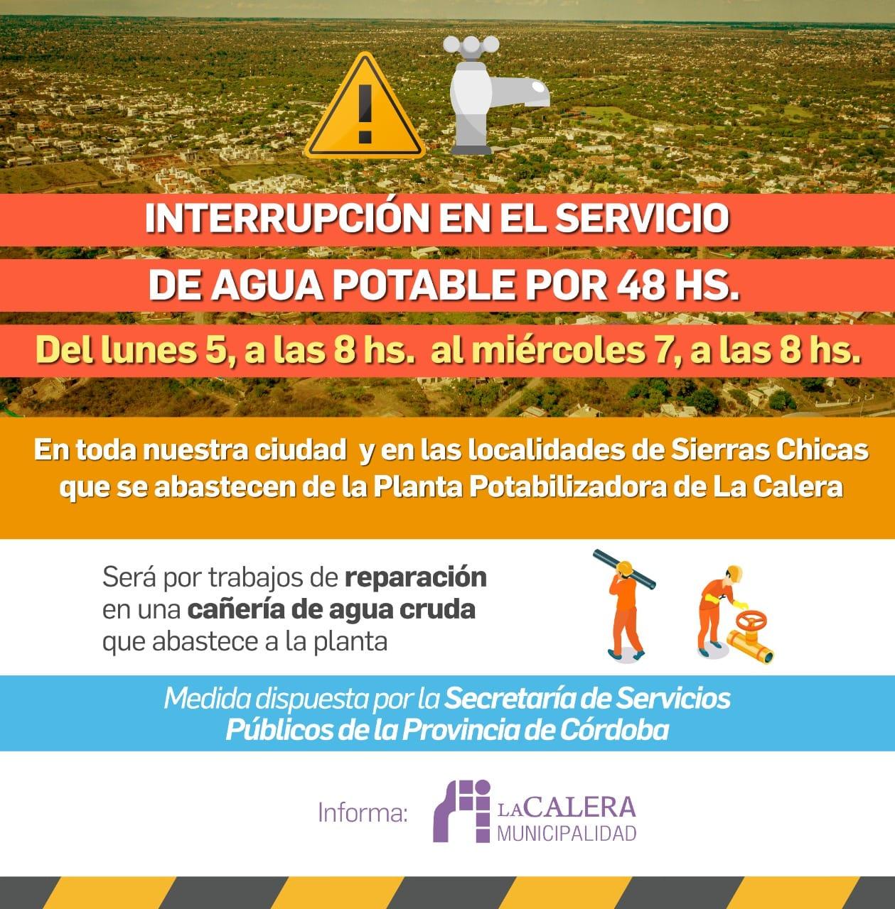 Cortan el suministro de agua potable en Sierras Chicas • Canal C
