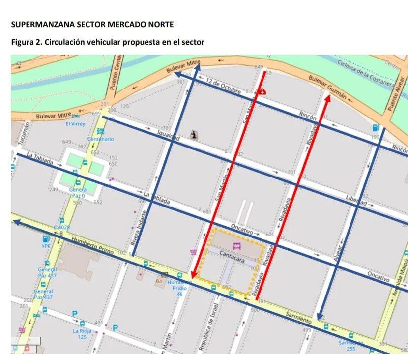 Cambian el sentido de circulación en las calles Rivadavia y San Martín • Canal C