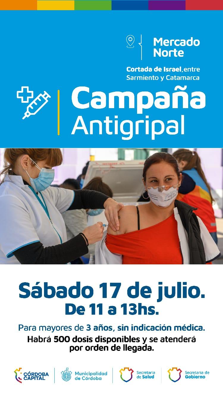 La Campaña Antigripal llegó al Mercado Norte • Canal C