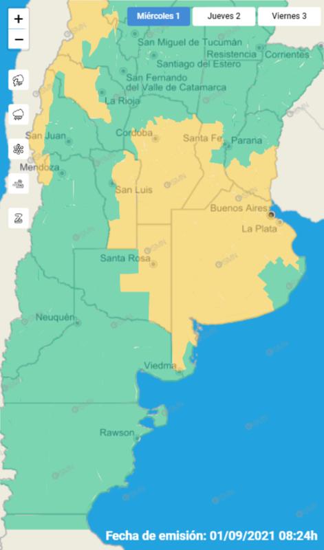 Córdoba: rige alerta meteorológico por tormentas fuertes y caída de granizo • Canal C
